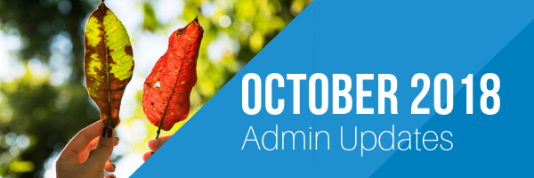 October 2018 Admin Newsletter