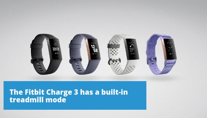 Four renderings of the Fitbit Charge 3 with different color watch bands