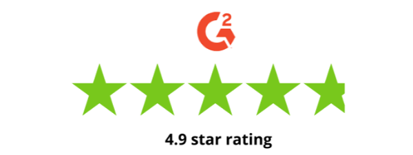 G2 crowd 4.9 star rating