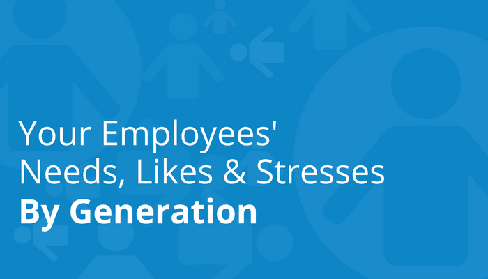 To design benefits for multiple generations in the workplace, managers must understand the unique stresses, needs, and likes for each age group.